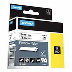 Sanford IND Flexible Nylon Labels, 3 1/4 x 1 1/4, Black/White
