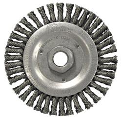Weiler Stringer Bead Knot Wheel4-1/2 in Diameter- .020ss