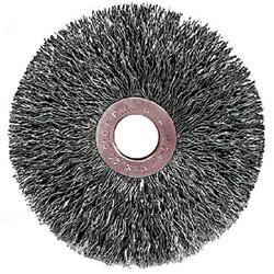 Weiler C-3 Copper Center Small Diameter Wire Wheel, .014 Stainless Steel, 1/23 in