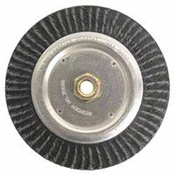 Weiler Polyflex® Stringer Bead Twist Knot Wire Wheel, 7 in D x 3/16 in W, .02 in Steel