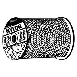 Orion Ropeworks Solid Braid Ropes, 1,238 lb Cap., 1,000 ft, Nylon (Polyamide), White