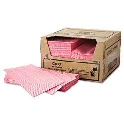 Chicopee Wet Wipes, 11 1/2 x 24, White/Pink, 200/Carton