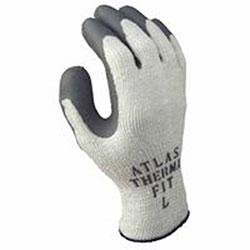 Showa Atlas Therma-Fit 451 Latex Coated Gloves, Light Gray/Dark Gray, Medium