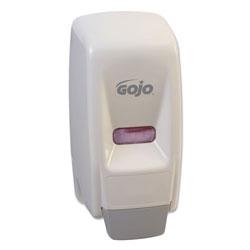 Gojo Bag-In-Box Liquid Soap Dispenser, 800 mL, 5.75 in x 5.5 in x 5.13 in, White