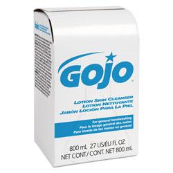 Gojo Lotion Skin Cleanser Refill, Floral, Liquid, 800 mL Bag, 12/Carton