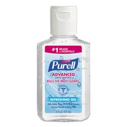 Purell Advanced Hand Sanitizer Refreshing Gel, Clean Scent, 2 oz, Squeeze Bottle, 24/Carton