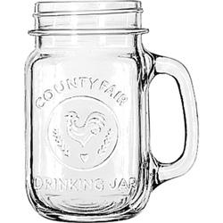 Libbey Glass Drinking Jar, 16 1/2 Ounces, Clear, 12/Carton