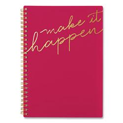 Cambridge Make it Happen Weekly/Monthly Planner, 8.5 x 5.5, Pink, 2021