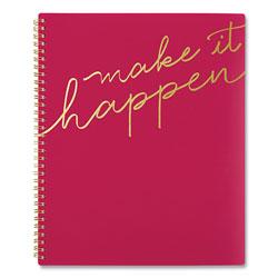 Cambridge Make it Happen Weekly/Monthly Planner, 11 x 8.5, Pink, 2021