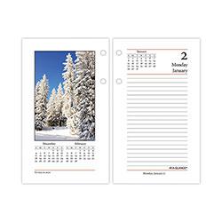 At-A-Glance Photographic Desk Calendar Refill, 3.5 x 6, 2021