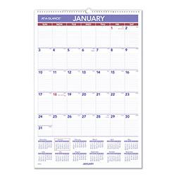 At-A-Glance Erasable Wall Calendar, 15.5 x 22.75, White, 2021