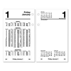 At-A-Glance Financial Desk Calendar Refill, 3.5 x 6, White, 2021