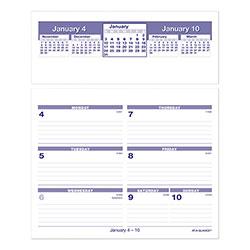 At-A-Glance Flip-A-Week Desk Calendar Refill, 7 x 6, White, 2021