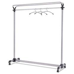 ALBA Large Capacity Garment Rack, 63.5w x 21.25d x 67.5h, Black/Silver