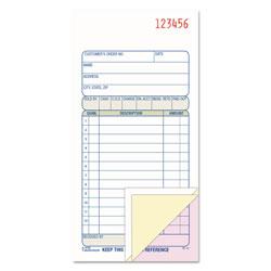 Adam Carbonless Sales Order Book, Three-Part Carbonless, 3 1/4 x 7 1/8, 50 sheets