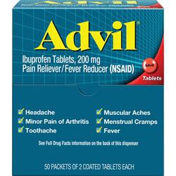 Advil® 2 Tablets per Pack, 50 Packs per Box