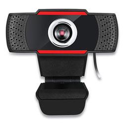Adesso CyberTrack H3 720P HD USB Webcam with Microphone, 1280 pixels x 720 pixels, 1.3 Mpixels, Black