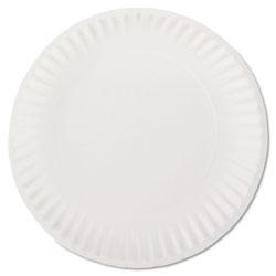 AJM Packaging White Paper Plates, 9 in Diameter, 100/Bag
