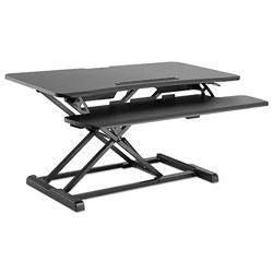 Alera AdaptivErgo Sit-Stand Workstation, 37.38w x 26.13d x 19.88h, Black