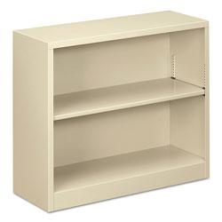 Alera Steel Bookcase, 2-Shelf, 34.5 inw x 12.63 ind x 29 inh, Putty