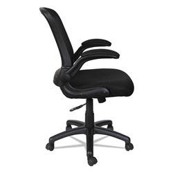 Alera EB-E Series Swivel/Tilt Mid-Back Mesh Chair, Supports up to 275 lbs, Black Seat/Black Back, Black Base