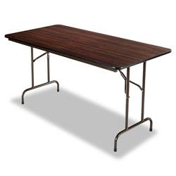 Alera Wood Folding Table, Rectangular, 59 7/8w x 29 7/8d x 29 1/8h, Mahogany