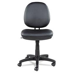 Alera Interval Series Swivel/Tilt Task Chair, Supports up to 275 lbs, Black Seat/Black Back, Black Base