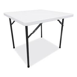 Alera Square Plastic Folding Table, 36w x 36d x 29 1/4h, White