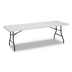 Alera Rectangular Plastic Folding Table, 96w x 30d x 29 1/4h, Gray