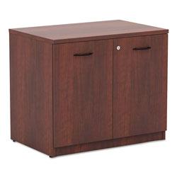 Alera Valencia Series Storage Cabinet, 34 1/8w x 22 7/8d x 29 1/2h, Medium Cherry