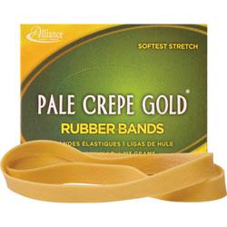 """Alliance Rubber Rubber Bands, Size 107, 1/4 lb., 7""""x5/8"""", Pale Crepe"""