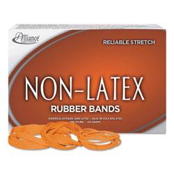 Alliance Rubber Non-Latex Rubber Bands, Size 117B, 0.04 in Gauge, Orange, 1 lb Box, 250/Box