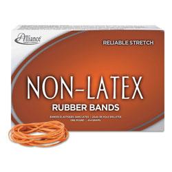 Alliance Rubber Non-Latex Rubber Bands, Size 19, 0.04 in Gauge, Orange, 1 lb Box, 1,440/Box