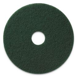 Americo® Scrubbing Pads, 13 in Diameter, Green, 5/CT