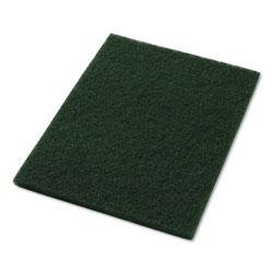 Americo® Scrubbing Pads, 14 in x 20 in, Green, 5/Carton