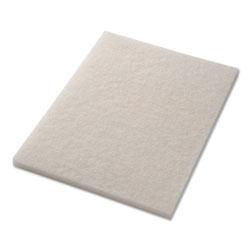 Americo® Polishing Pads, 14 in x 20 in, White, 5/Carton