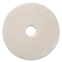 Americo® Polishing Pads, 17 in Diameter, White, 5/CT