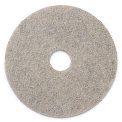 Americo® Combo Burnishing Pads, 20 in Diameter, Tan, 5/CT