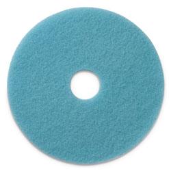 Americo® Luster Lite Burnishing Pads, 20 in Diameter, Sky Blue, 5/CT