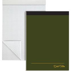 "Ampad Design Pad, Ruled 4x4Sq/Inch, 80 Sheets, 8 1/2"" x 11 3/4"" White"