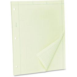 "Ampad Engineer Pads, Ruled 5x5 Sq/Inch, 100 Sheets/Pad, 8-1/2""x11"", Green"