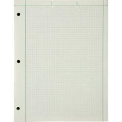 "Ampad Engineer Pads, Ruled 5x5 Sq/Inch, 200 Sheets/Pad, 8-1/2""x11"", Green"