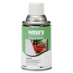 Misty Metered Dry Deodorizer Refills, Summer Breeze, 7 oz Aerosol, 12/Carton
