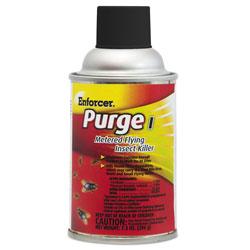 Enforcer Purge I Metered Flying Insect Killer, 7.3 oz Aerosol, Unscented, 12/Carton