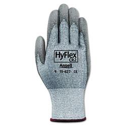 Ansell HyFlex 627 Light-Duty Gloves, Size 10, Dyneema/Lycra/Polyurethane, GY, 12 Pairs