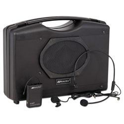Amplivox Bluetooth Audio Portable Buddy with Wireless Handsfree Mic, 50W, Black