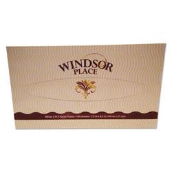 Resolute Tissue Windsor Place Facial Tissue, 2-Ply, 100 Sheets/Box, 30 Box/Carton