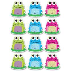 Ashley Decorative Dry-Erase Magnet, Scrible Frog, 12/PK, Multi