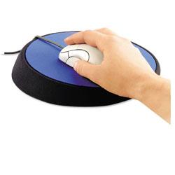 Allsop Wrist Aid Ergonomic Circular Mouse Pad, 9 in dia., Cobalt