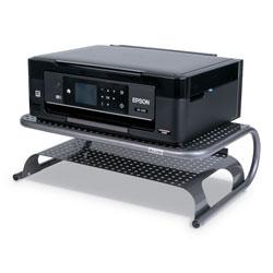 Allsop Metal Desktop Printer/Monitor Stand, 18 1/2 in x 12 in x 5 3/4 in, Pewter